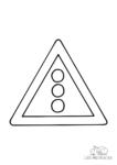 Ausmalbild Verkehrszeichen Ampel (131 Lichtzeichenanlage)