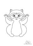 Ausmalbild Waschbär