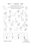 Ausmalbild Zählen 002 Tiere im Zoo Lösung