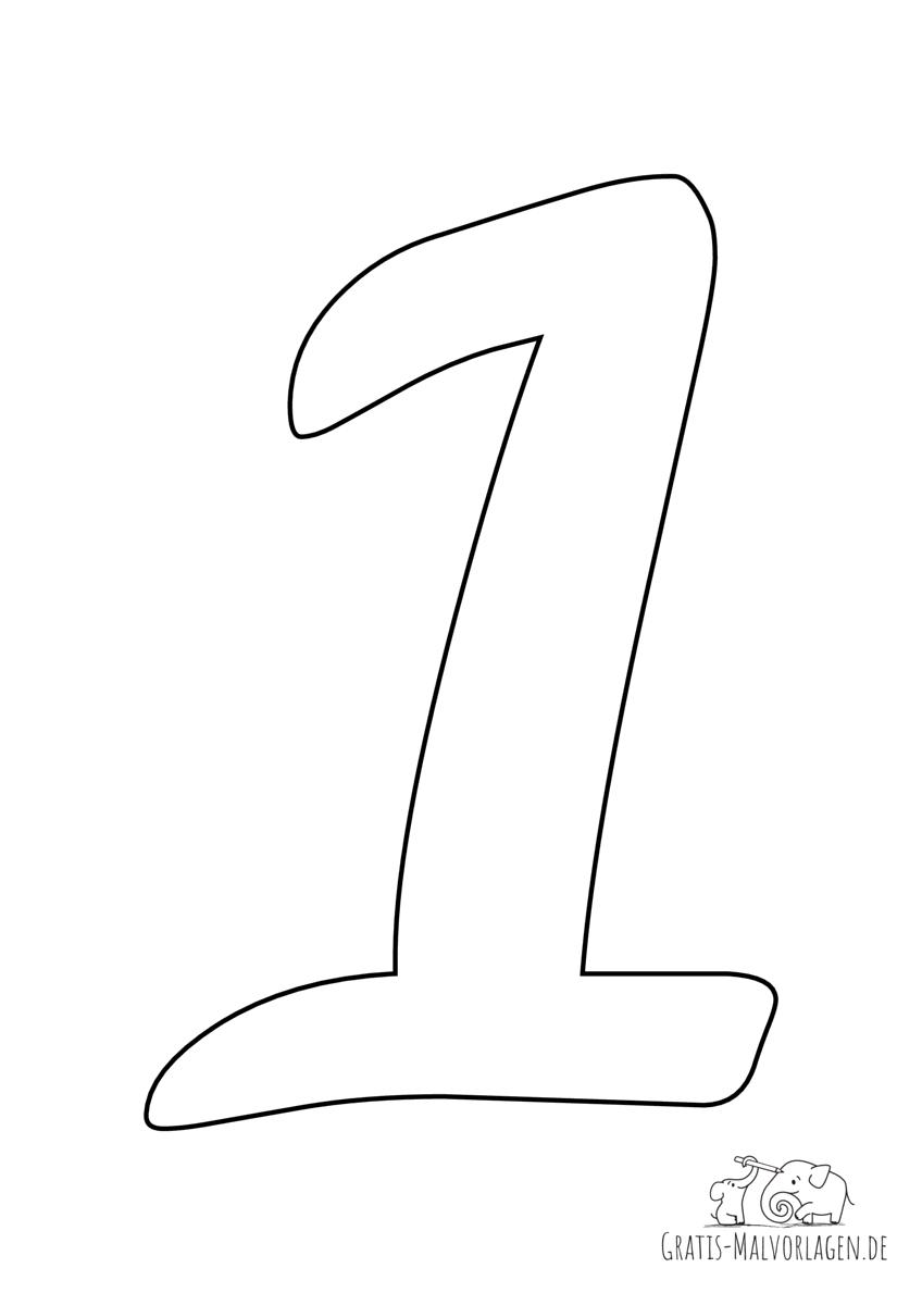 Zahl 1