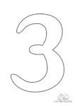 Ausmalbild Zahl 3